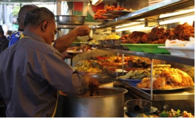 Nasi Kandar Is A Real Penang Speciality And Takes Its Name From The Malay Word For Pole Or In Old Days Vendors Would Carry Their